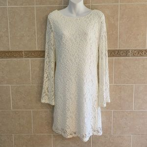 Chelsea & Theodore White Lace Dress